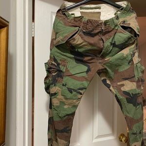 Polo slim fit camouflage cargo pants